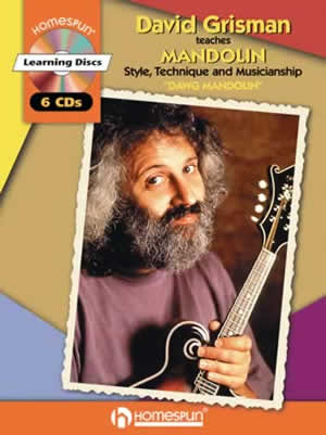 "DAVID GRISMAN TEACHES MANDOLIN STYLE TECHNIQUE AND MUSICIANSHIP ""DAWG MANDOLIN""(CD6枚+TAB譜)"