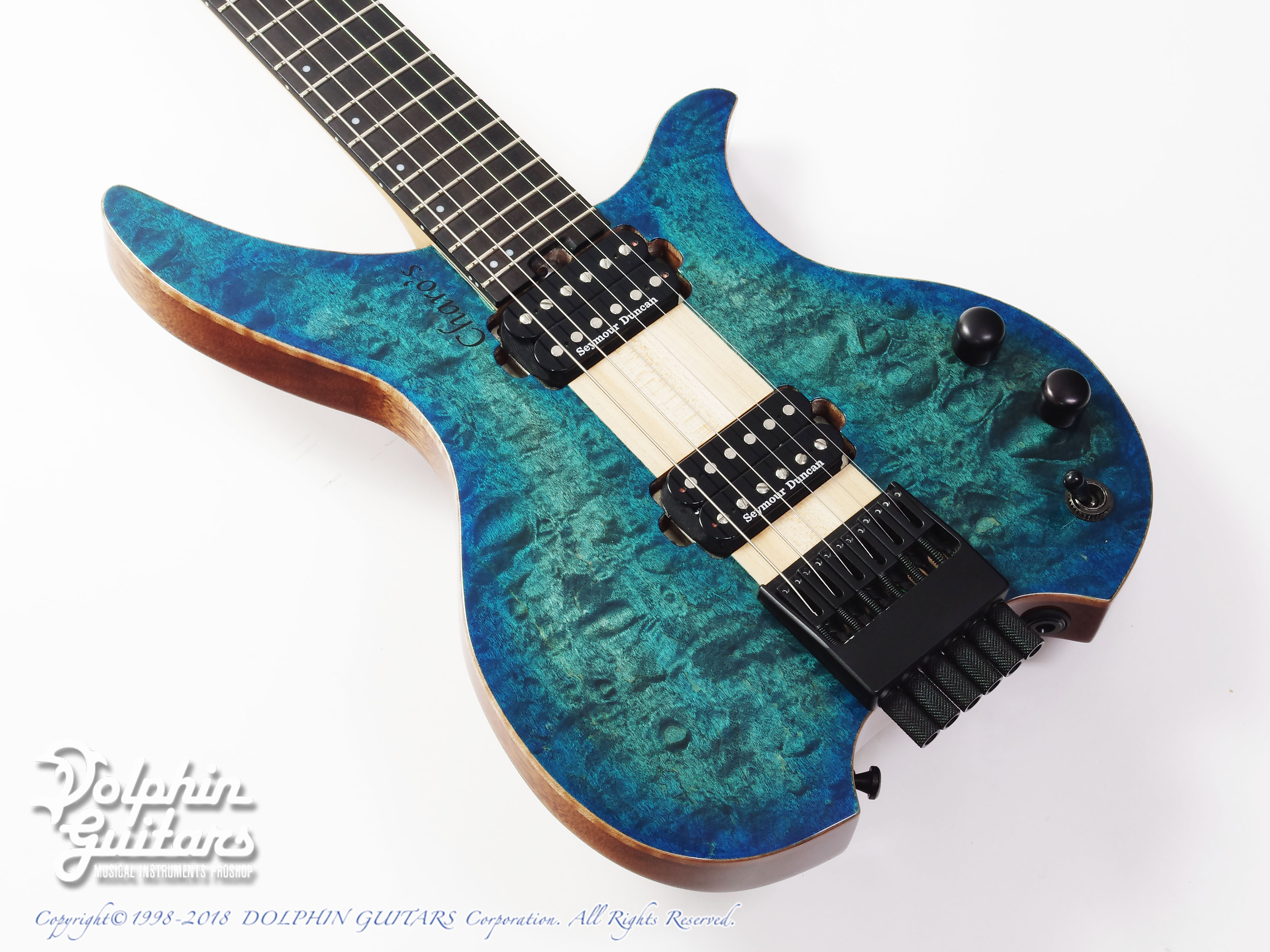 Charo's:CH-G6 Headless Guitar (Quilted Maple)