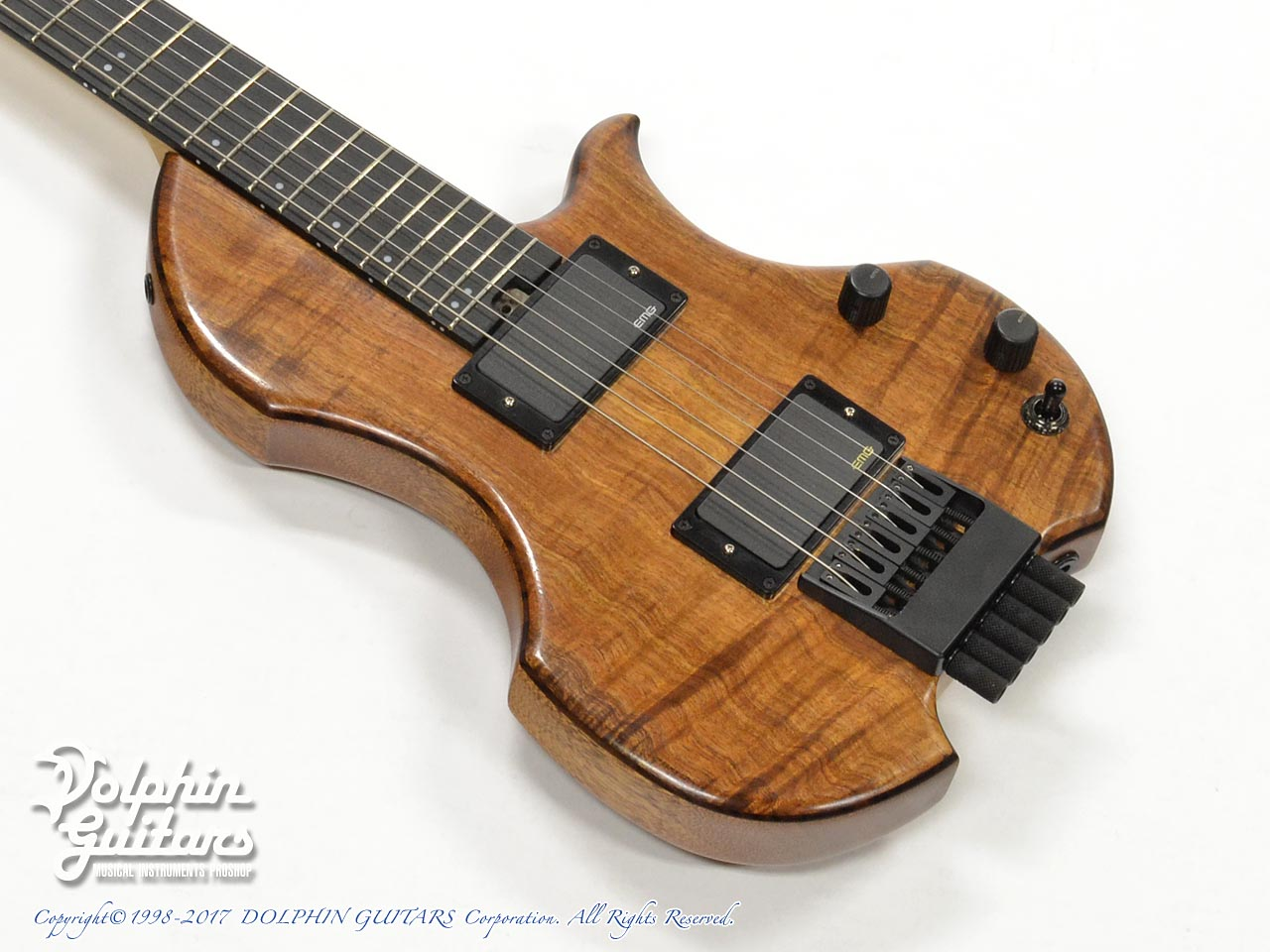 CH-G6 Headless Guitar (Hawaiian Koa)+Elixir OPTIWEB 10-46