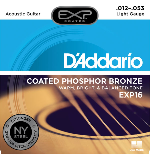 d'addario ダダリオ・COATED PHOSPHOR BRONZE・EXP16
