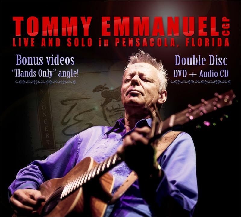 TOMMY EMMANUEL - LIVE AND SOLO (CD/DVD set)