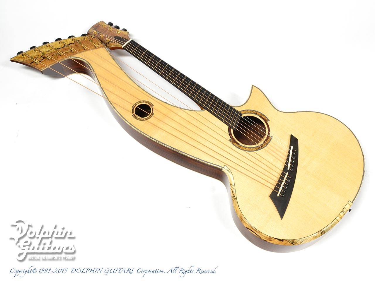 SHARP GUITARS:Custom Harp Guitar