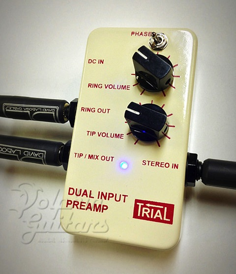 TRIAL・DUAL INPUT PREAMP【アコースティック・ギター用デュアルプリアンプ】