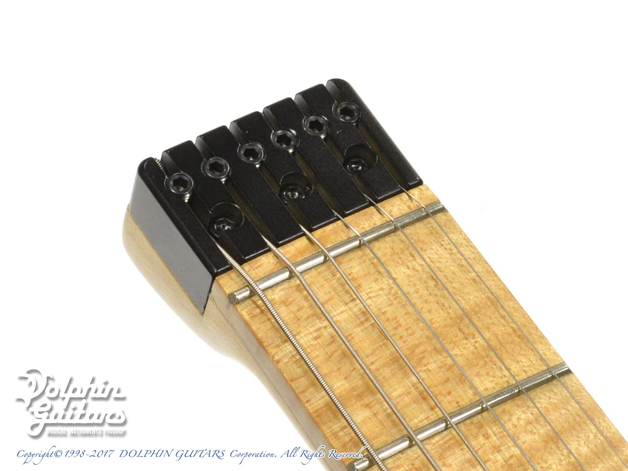 Charo's: CH-G6 Headless Guitar (Spalted Curly Maple) (CS) (7)