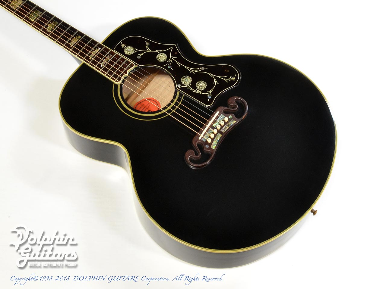 Gibson: J-200 ELITE Custom Ebony (1)