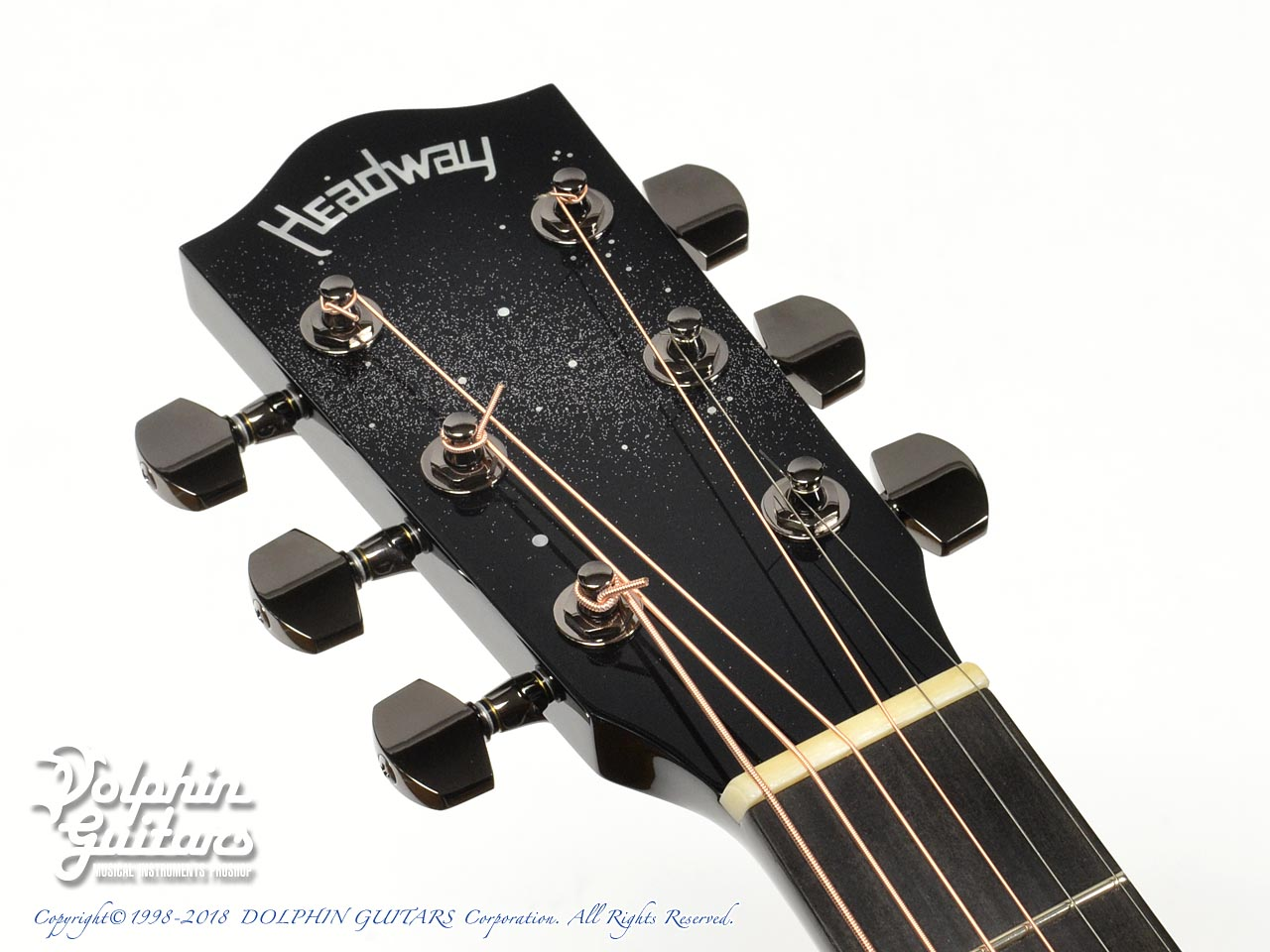 HEADWAY: HD-JET BLACK DX ( Adirondack Spruce & Indian Rosewood) (6)