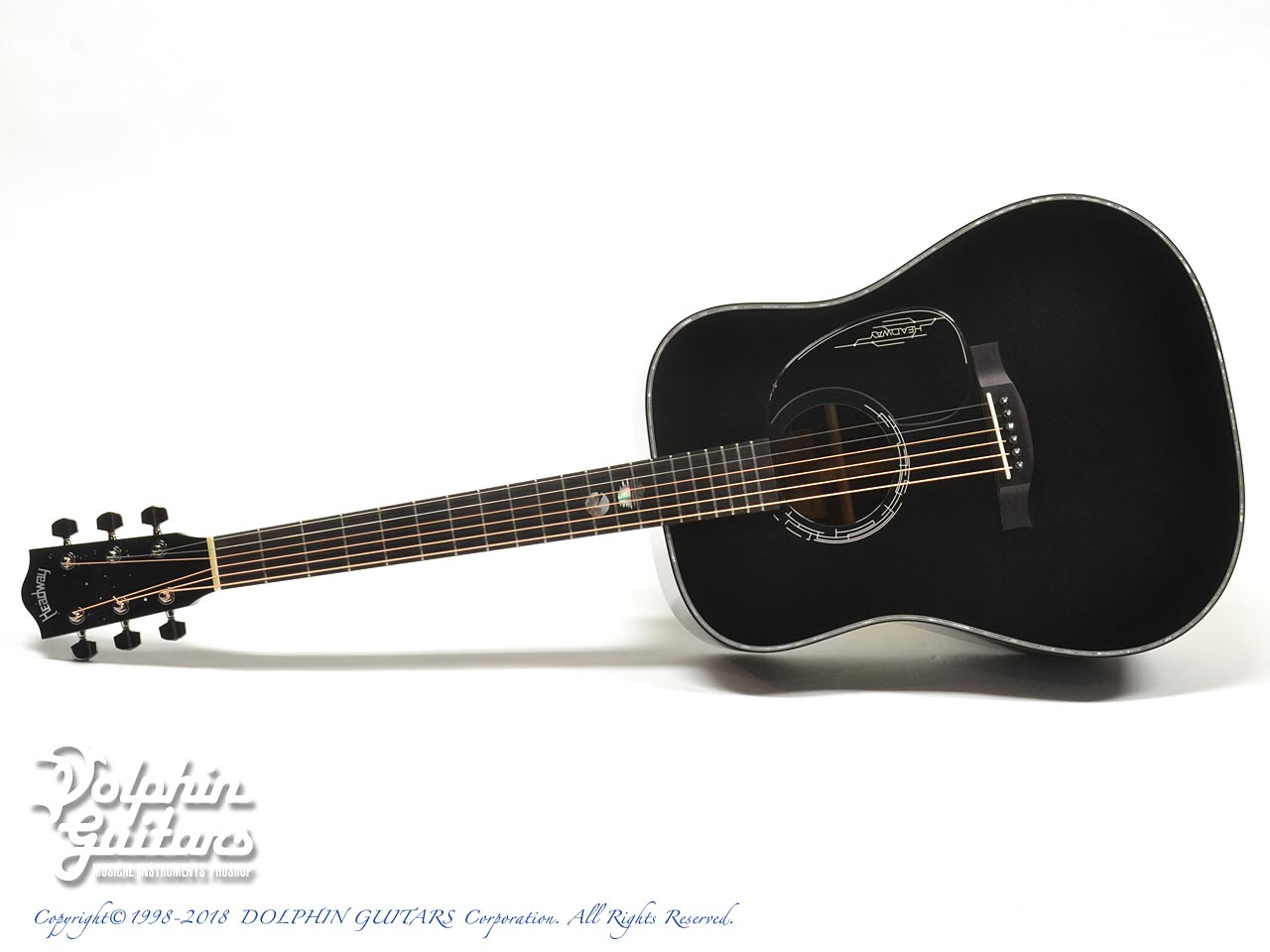 HEADWAY: HD-JET BLACK DX ( Adirondack Spruce & Indian Rosewood) (0)
