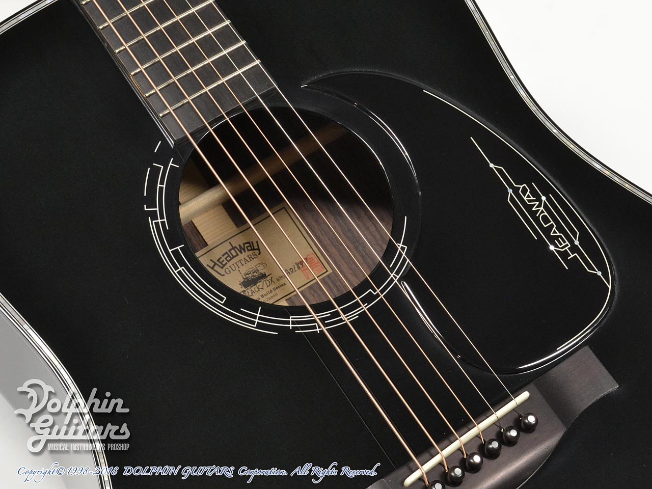 HEADWAY: HD-JET BLACK DX ( Adirondack Spruce & Indian Rosewood) (8)