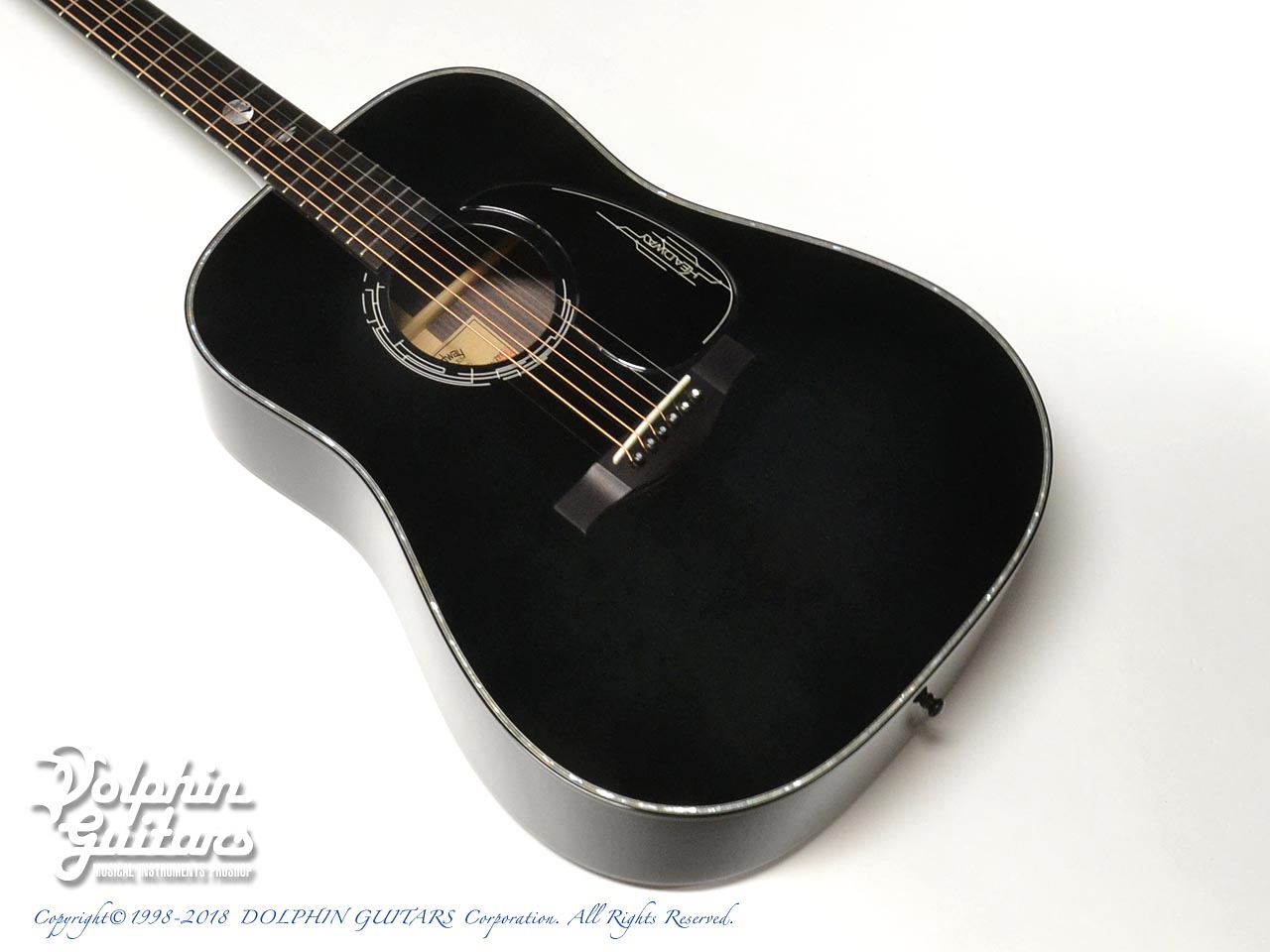 HEADWAY: HD-JET BLACK DX ( Adirondack Spruce & Indian Rosewood) (1)