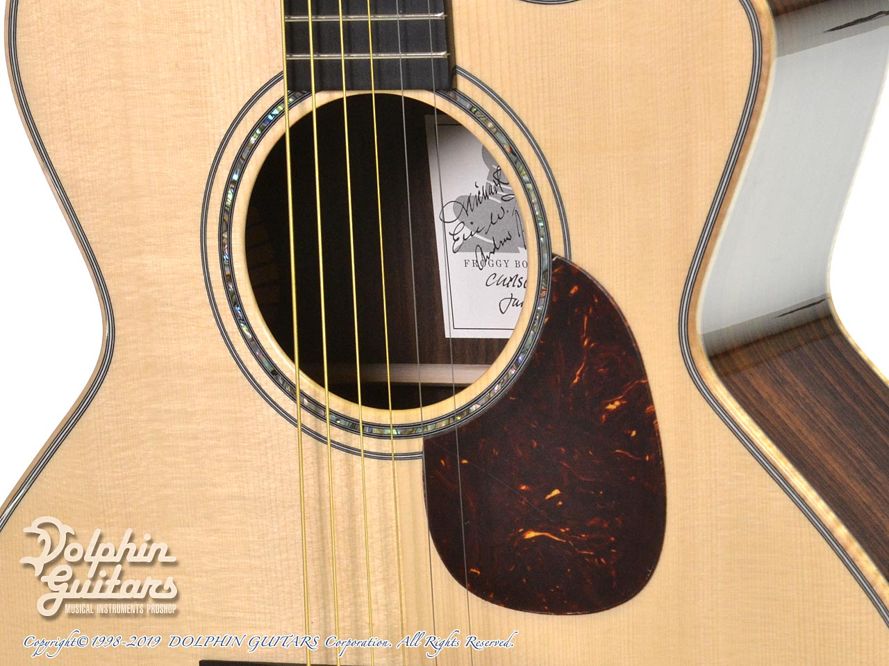 Froggy Bottom: Model M Deluxe Rosewood Cutaway (Adirondack Spruce) (8)