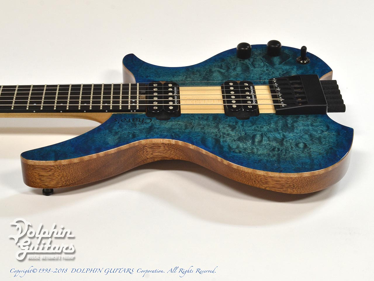 Charo's: CH-G6 Headless Guitar (Quilted Maple) (2)