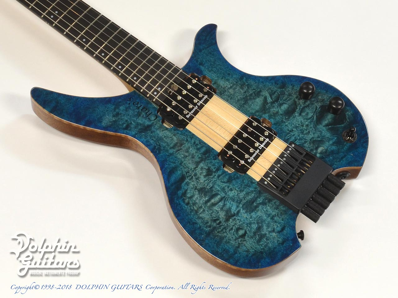 Charo's: CH-G6 Headless Guitar (Quilted Maple) (1)