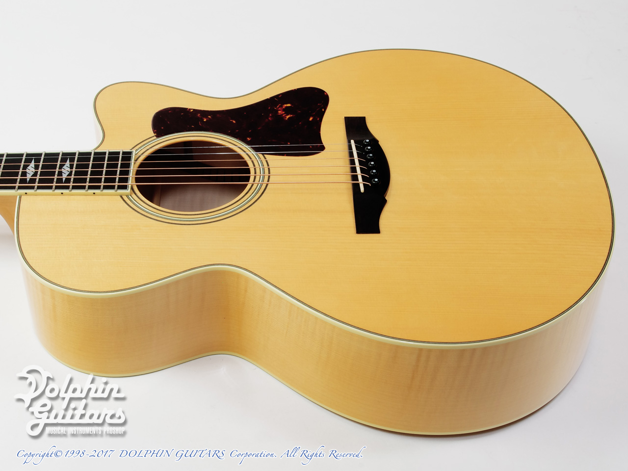 COLLINGS: SJ A Cutaway (Adirondack & Flamed Maple) (2)