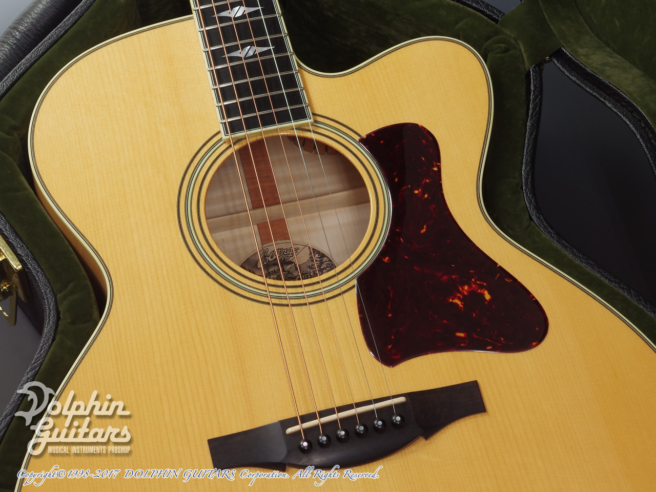 COLLINGS: SJ A Cutaway (Adirondack & Flamed Maple) (9)