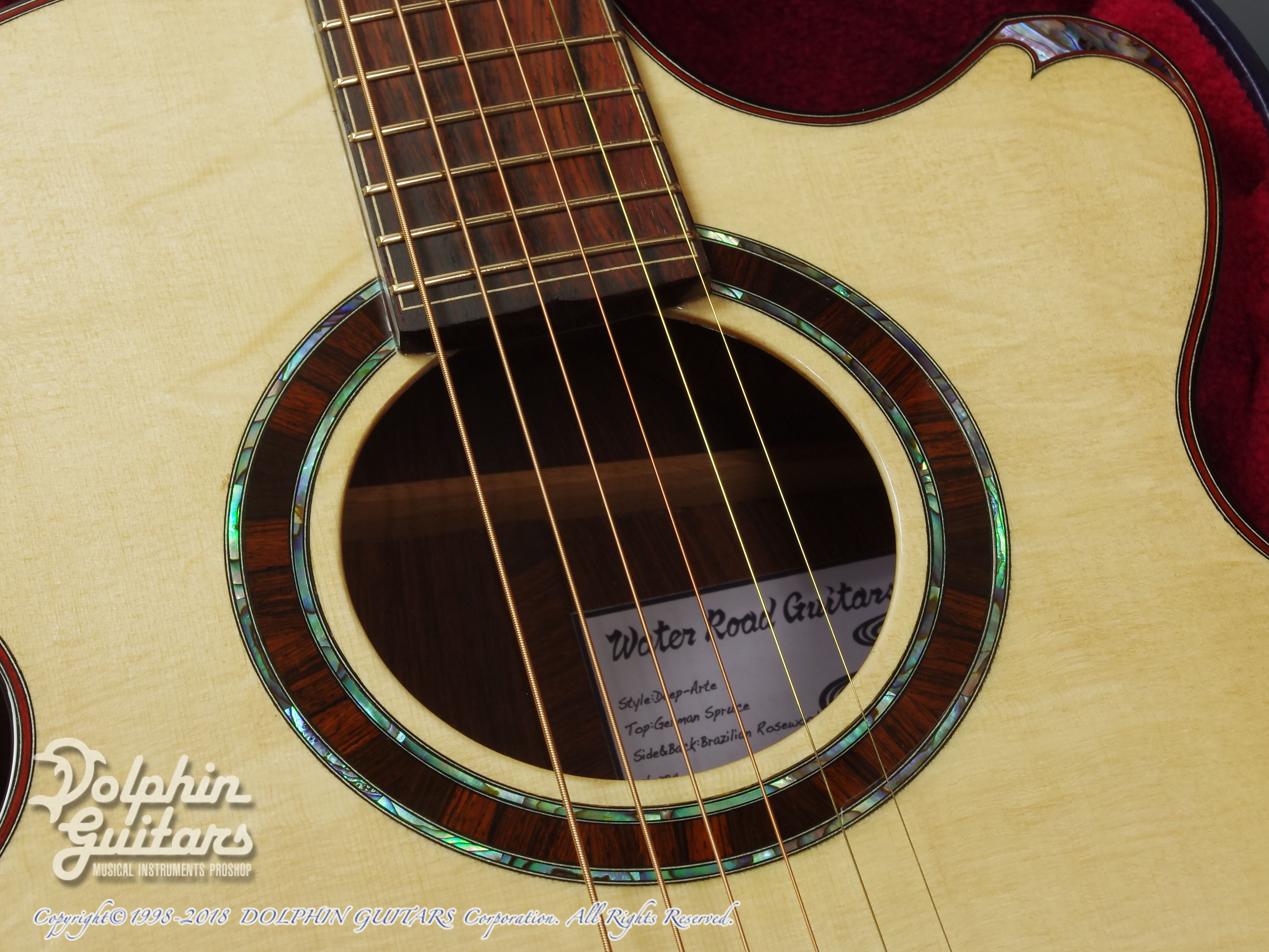 WATER ROAD GUITARS: Deep Arte (Brazilian Rosewood) (9)