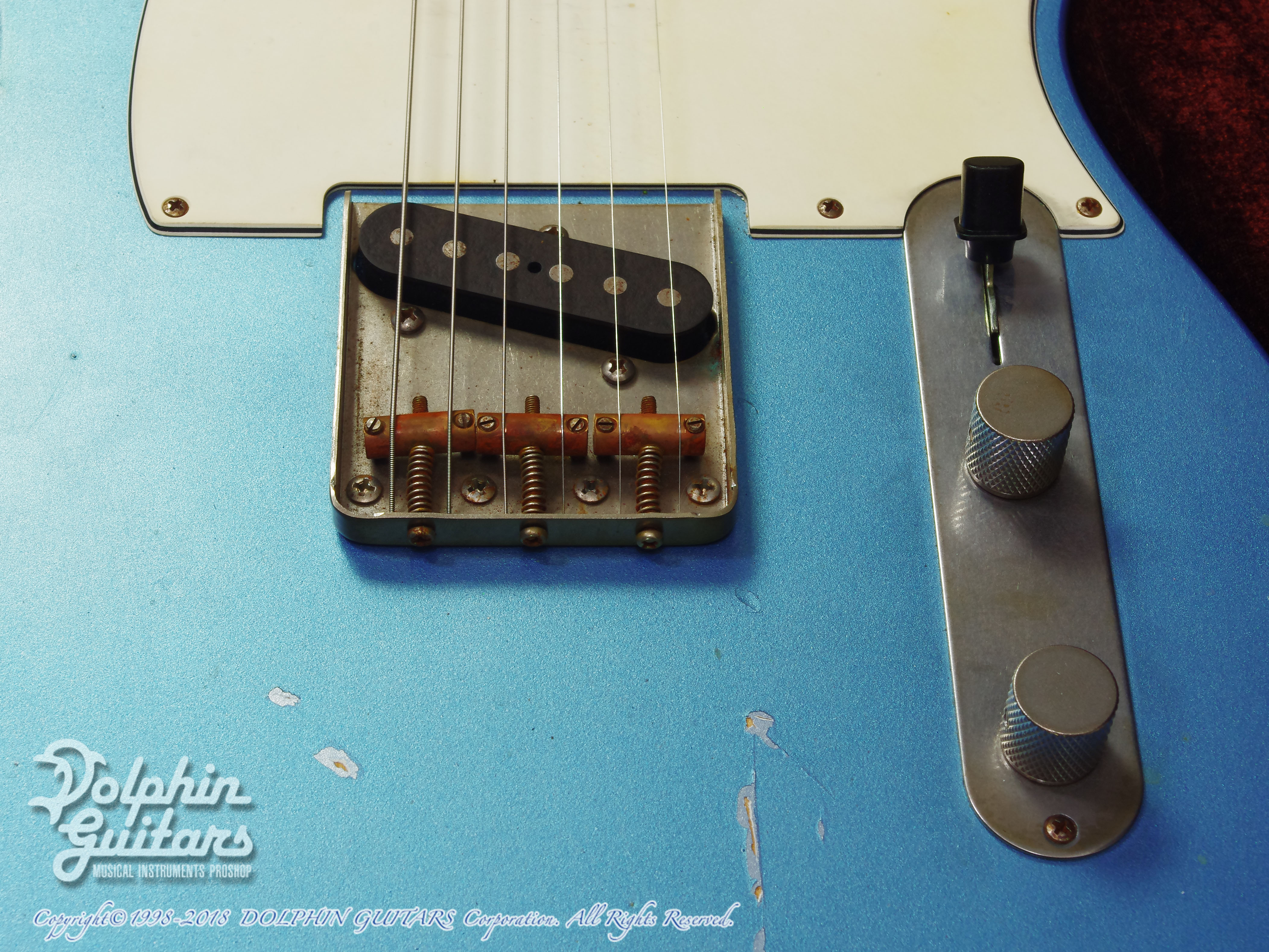 NASH GUITARS: T-63 (Ice Blue Metalic) (9)