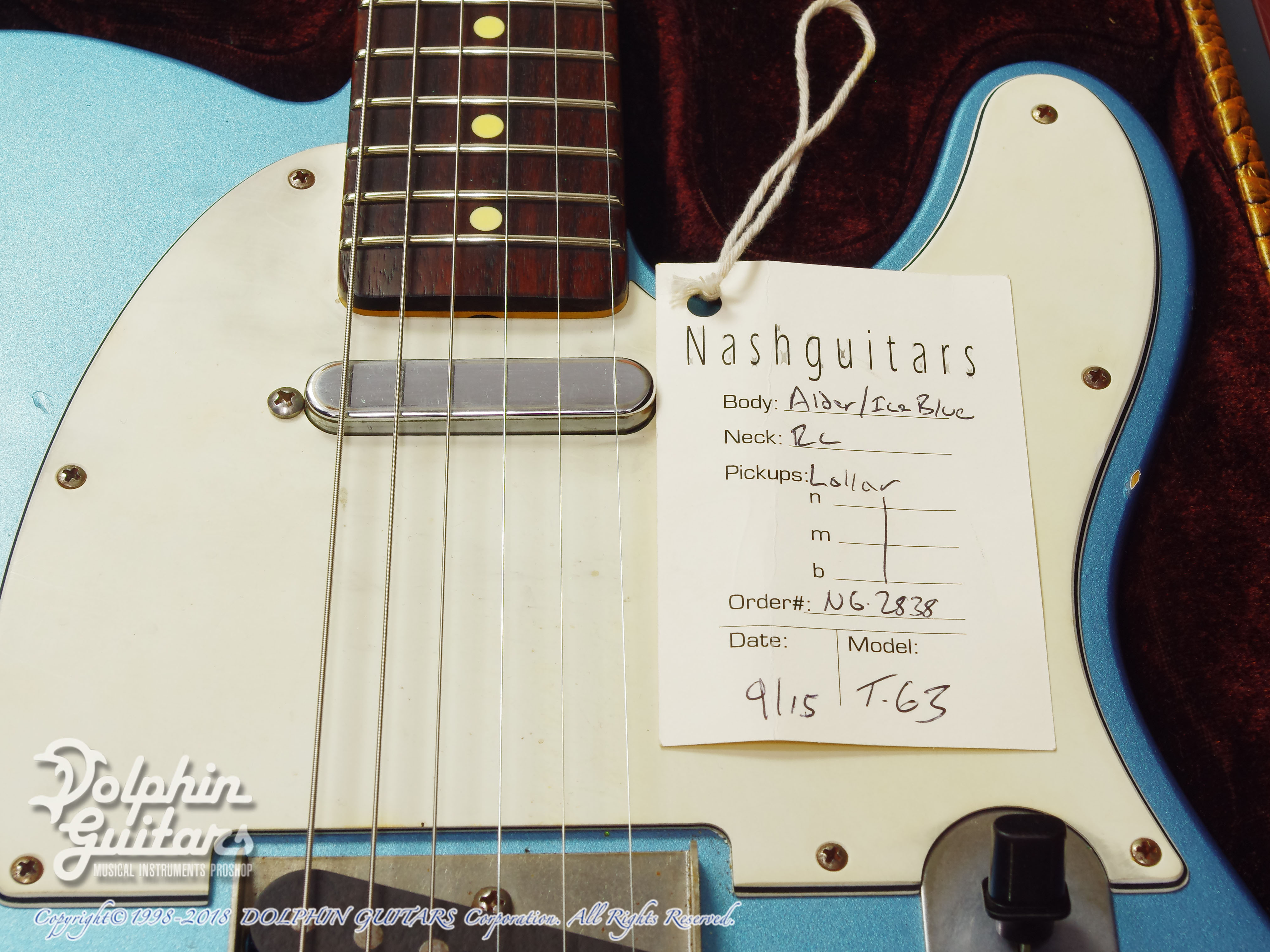 NASH GUITARS: T-63 (Ice Blue Metalic) (10)
