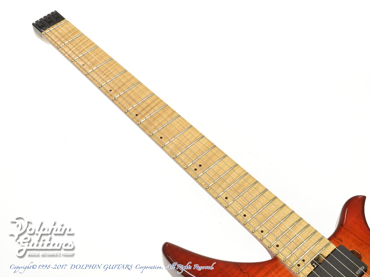 Charo's: CH-G6 Headless Guitar (Spalted Maple)  (5)