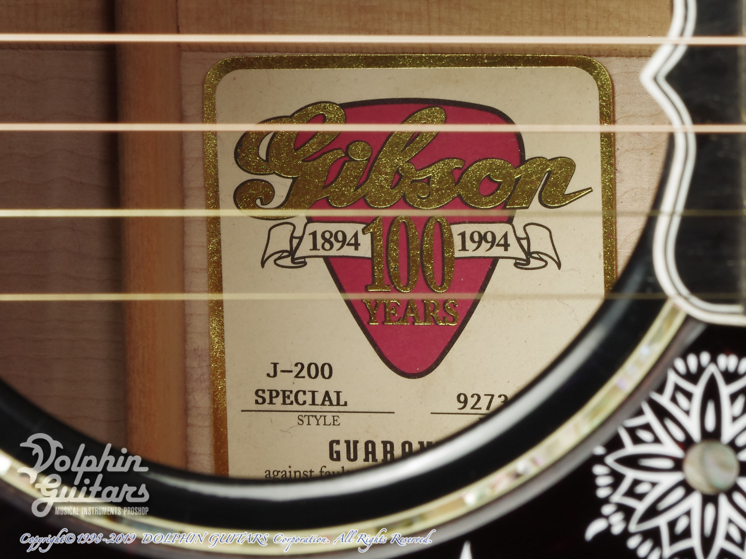 Gibson: J-200 Special 100th Annivarsary (Ebony Black) (11)