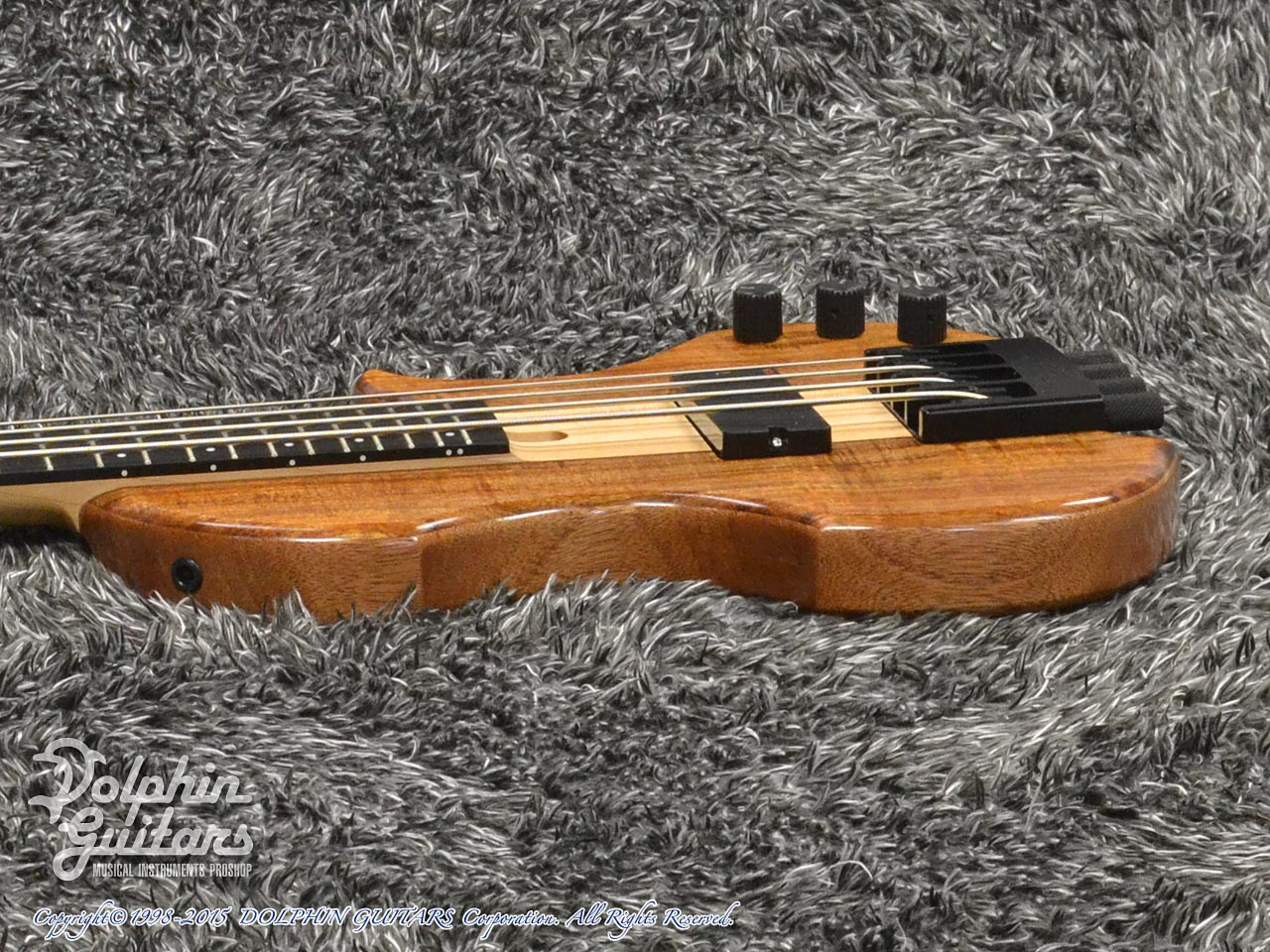 Charo's: Compact Headless Bass (Hawaiian Koa) (2)