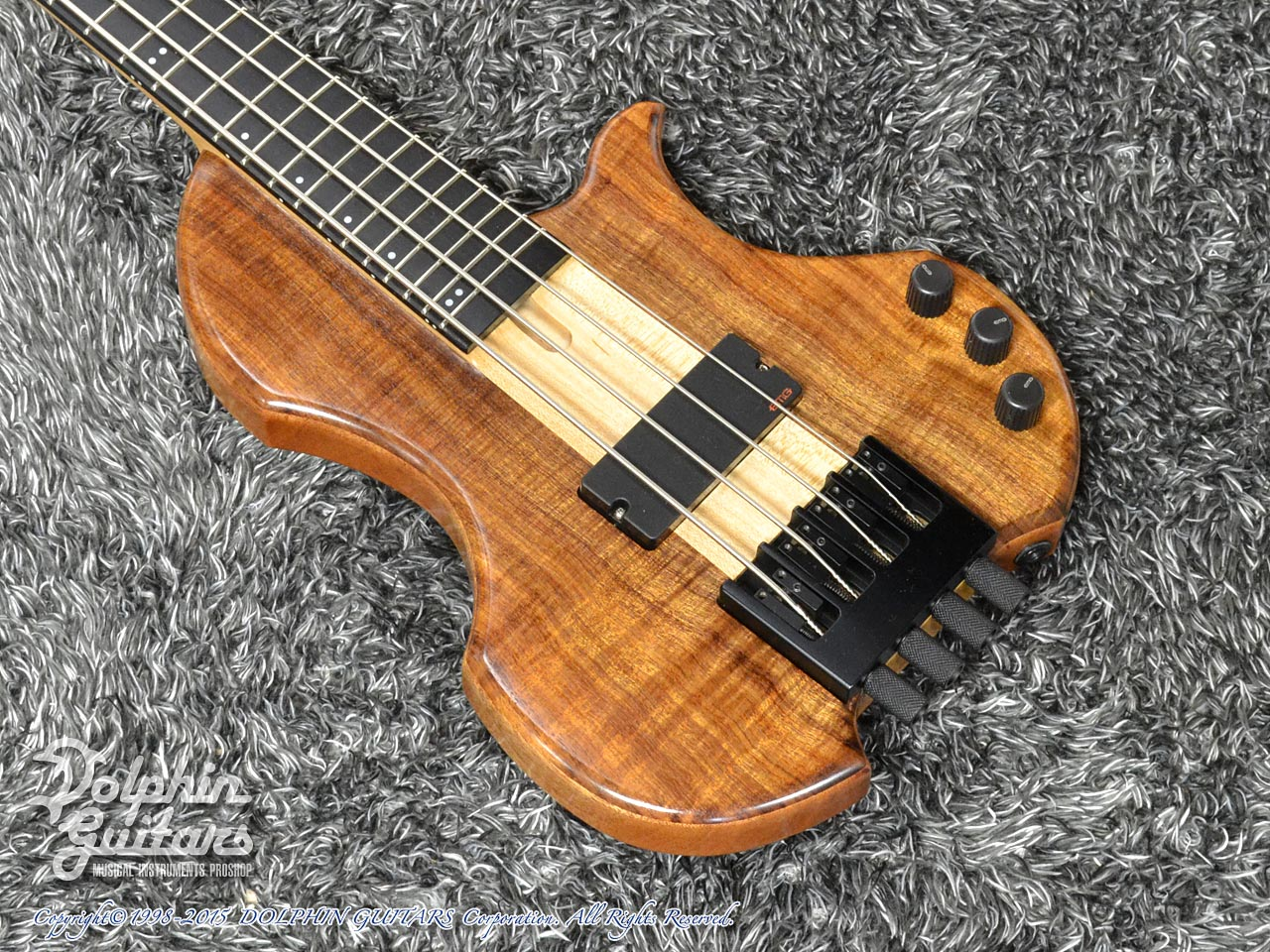 Charo's: Compact Headless Bass (Hawaiian Koa) (1)
