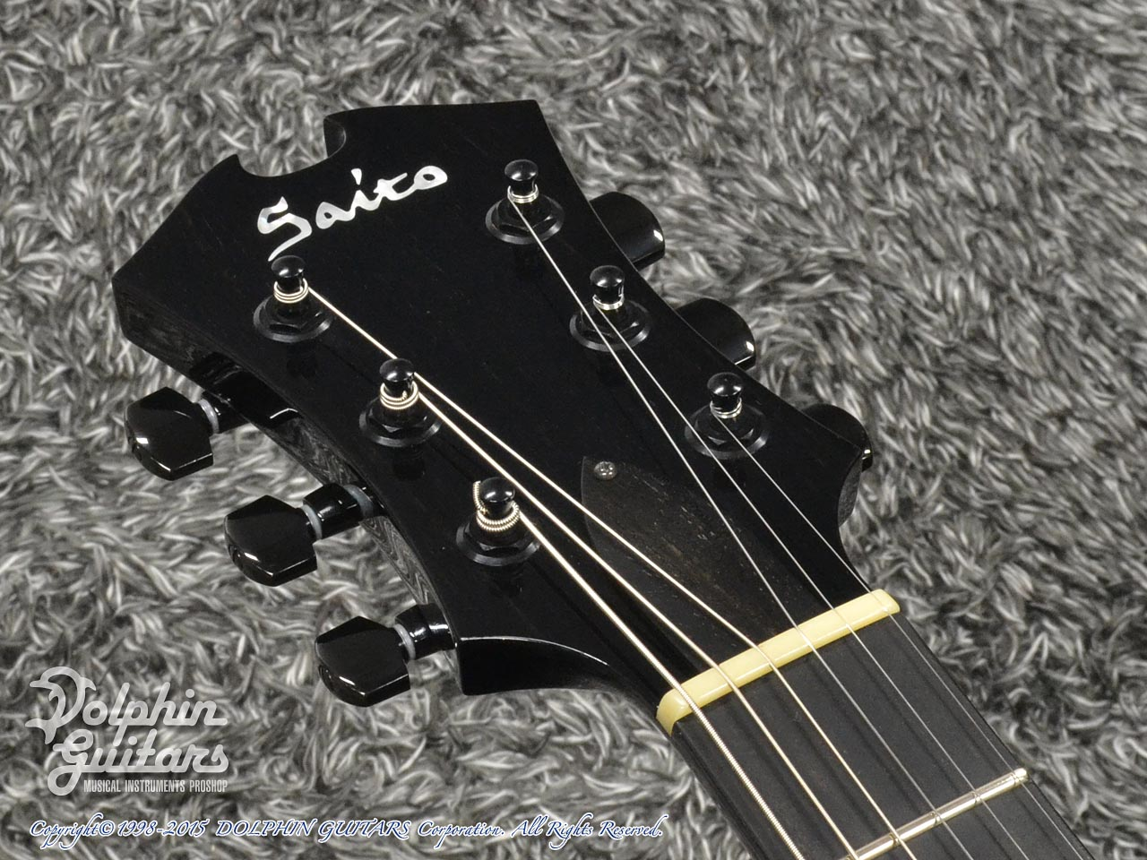 SAITO GUITARS: M35SMM (Trans Black) (6)