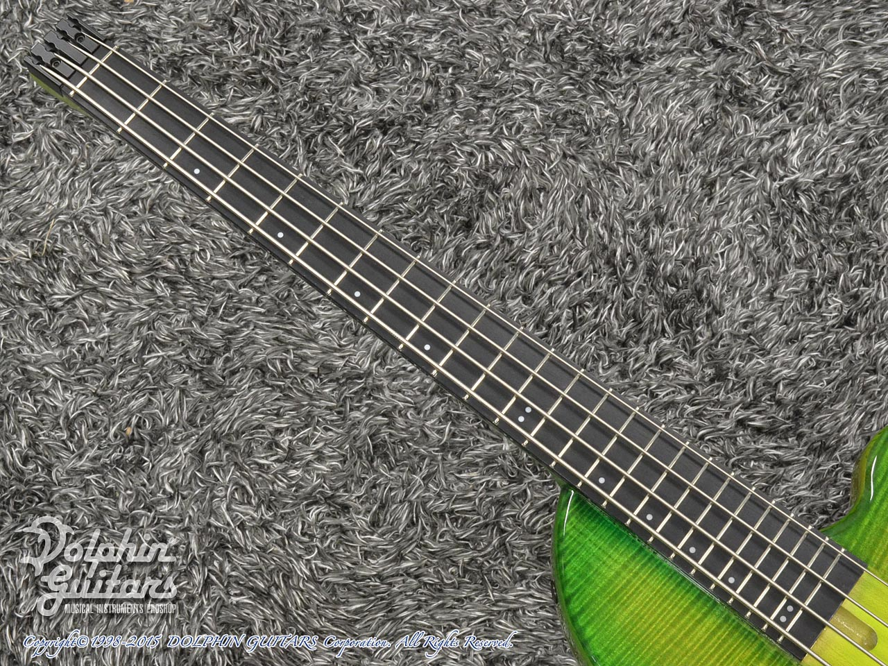 Charo's: CH-B4 Compact Headless Bass (Curly Maple & Alder) (Tropical Forest) (5)