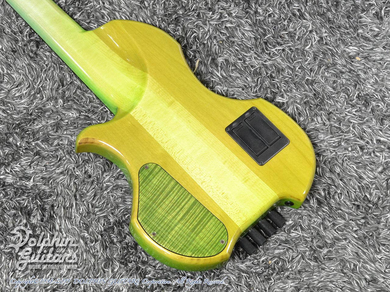 Charo's: CH-B4 Compact Headless Bass (Curly Maple & Alder) (Tropical Forest) (3)