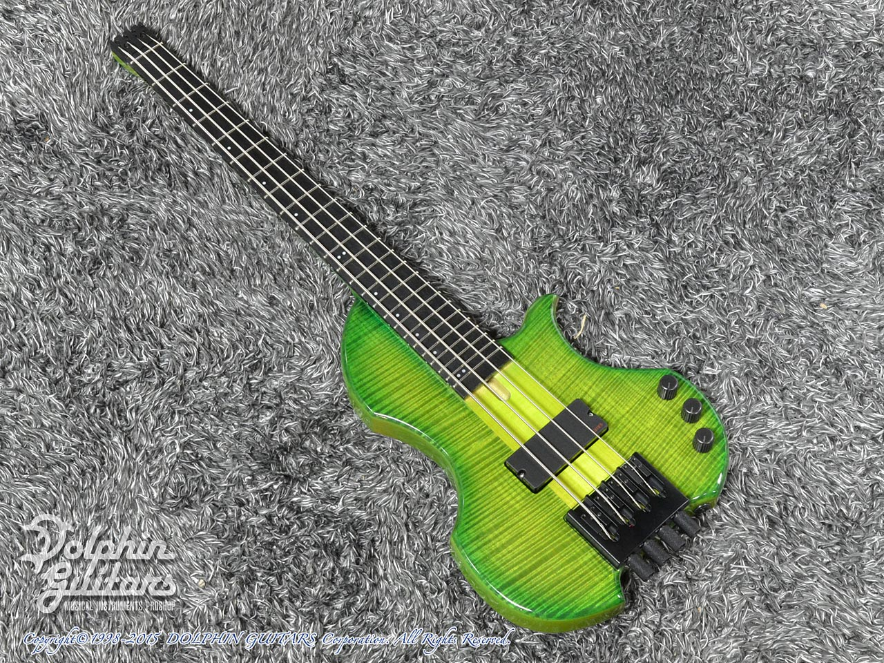 Charo's: CH-B4 Compact Headless Bass (Curly Maple & Alder) (Tropical Forest) (0)