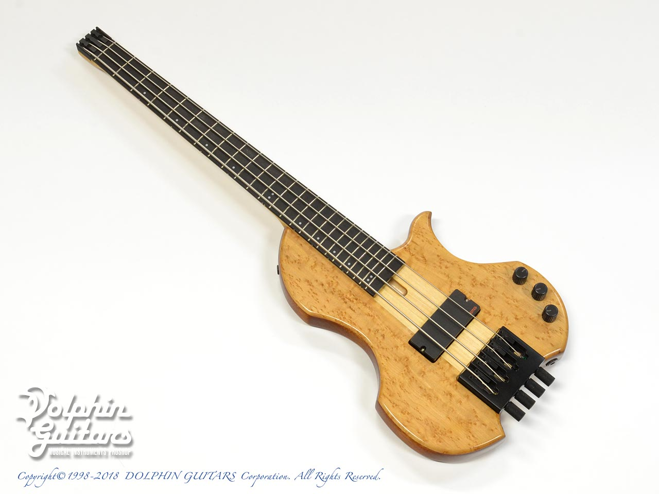 Charo's: CH-B4 Compact Headless Bass (Birdseye Maple & Mahogany) (0)