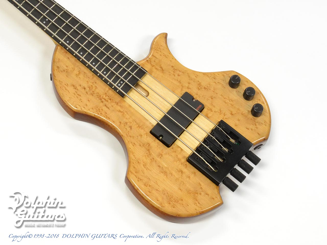Charo's: CH-B4 Compact Headless Bass (Birdseye Maple & Mahogany) (1)