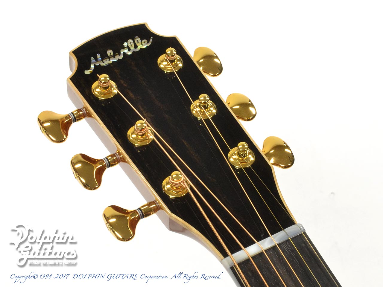 "MELVILLE GUITARS: 000 Cutaway with ""Melville"" Rose Inlay (6)"