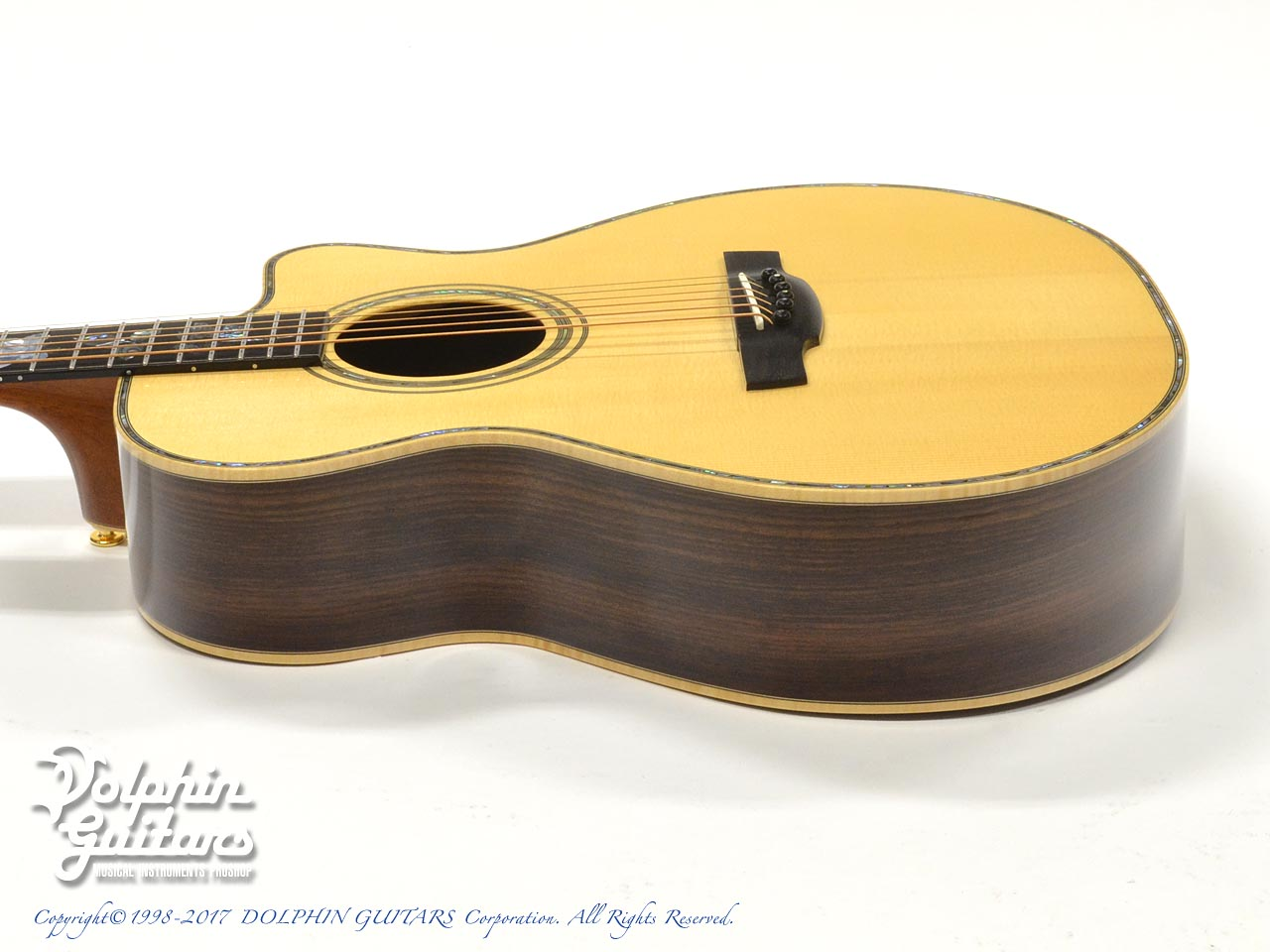 "MELVILLE GUITARS: 000 Cutaway with ""Melville"" Rose Inlay (2)"