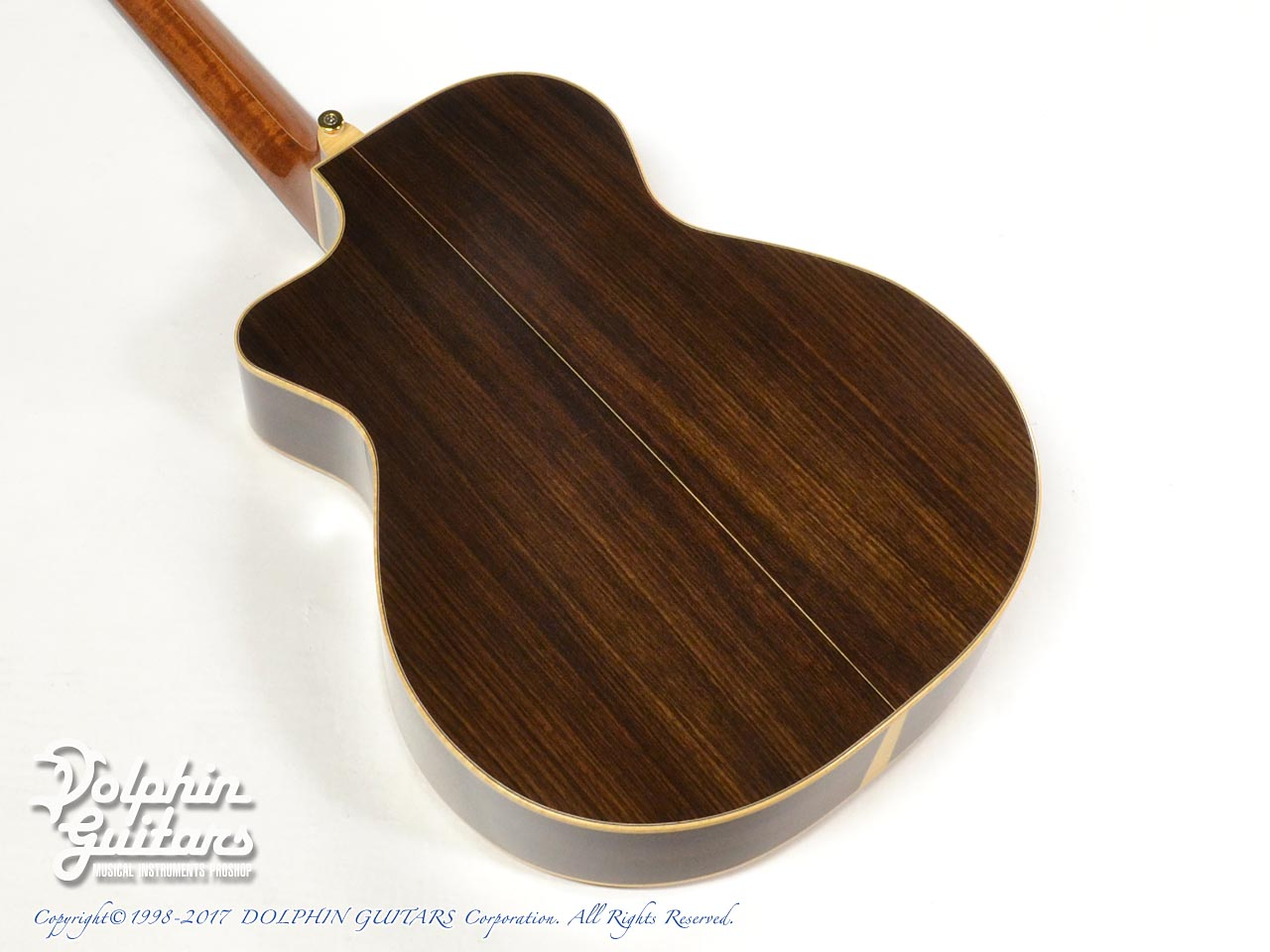 "MELVILLE GUITARS: 000 Cutaway with ""Melville"" Rose Inlay (3)"
