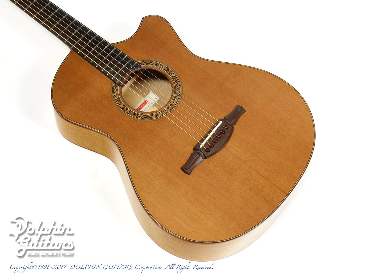 FUJII GUITARS: 00-12Fret Cutaway (Western Red Cedar & White Oak) (1)